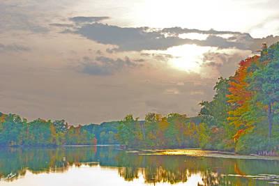Kensington Autumn Sunset Poster by Bill Woodstock