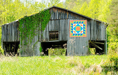 Kentucky Barn Quilt - Thunder And Lightening Poster by Mary Carol Story
