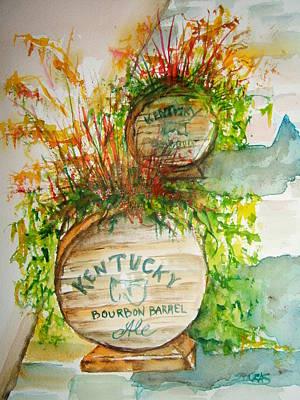 Kentucky Bourbon Barrels Poster