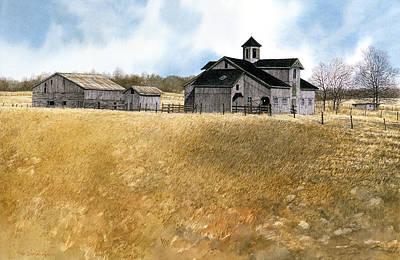 Kentucky Farm Poster by Tom Wooldridge