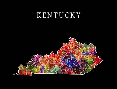 Kentucky State Poster by Daniel Hagerman