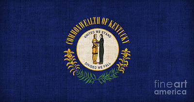 Kentucky State Flag Poster by Pixel Chimp