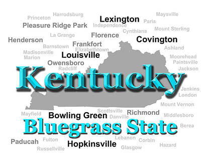 Kentucky State Pride Map Silhouette  Poster by Keith Webber Jr