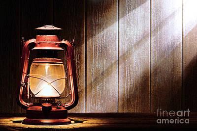 Kerosene Lantern Poster by Olivier Le Queinec