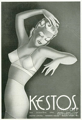 Kestos 1930s Uk Womens Underwear Bras Poster by The Advertising Archives
