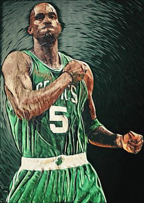 Kevin Garnett Poster by Taylan Apukovska