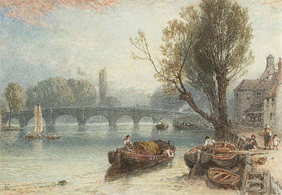 Kew Bridge From Standing On The Green Poster by Myles Birket Foster