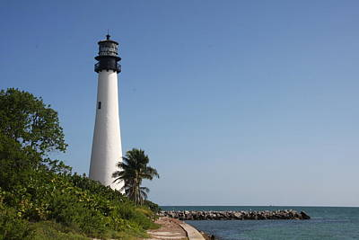 Key Biscayne Lighthouse Poster by Christiane Schulze Art And Photography