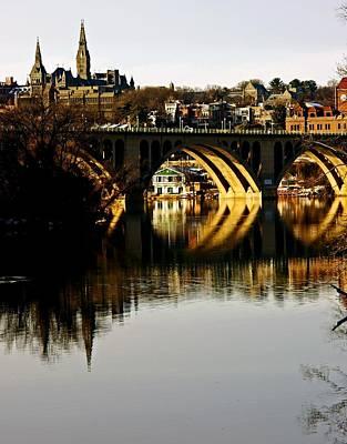 Key Bridge And Georgetown  Poster