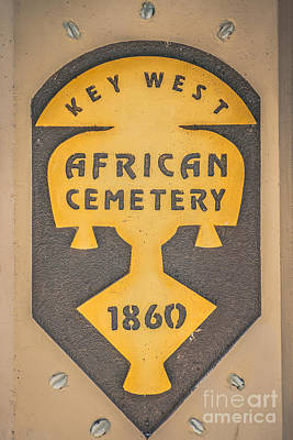 Key West African Cemetery 3 - Key West - Hdr Style Poster by Ian Monk