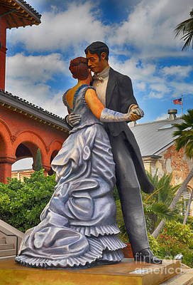 Key West Ballroom Dancers Poster by Chris Thaxter