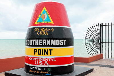 Key West Futhermost South Buoy Poster