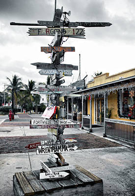 Key West Wharf Poster