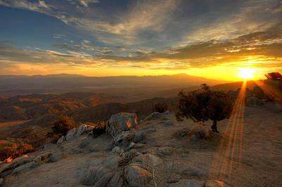 Keys View Sunset - Joshua Tree National Park Poster by Jackie Novak
