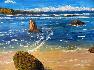 Poster featuring the painting Kiama Beach by Pamela  Meredith