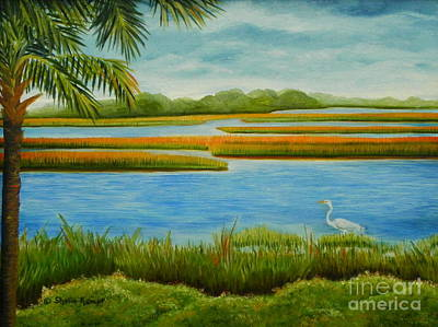 Poster featuring the painting Kiawah Marsh by Shelia Kempf