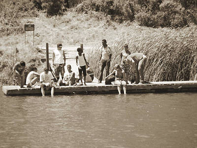 Poster featuring the photograph Kids At Lake Chabot by Hiroko Sakai