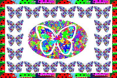 Kids Love Butterfly And Lady Bugs Poster
