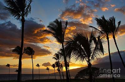 Poster featuring the photograph Kihei At Dusk by Peggy Hughes