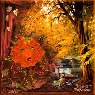 Kikki The Fluffy Flower Storyteller Poster by Giada Rossi