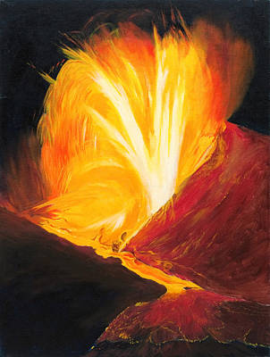 Kilauea Volcano In Hawaii Poster by Phillip Compton