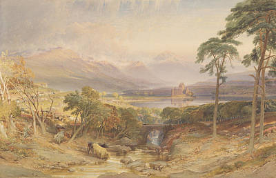 Kilchurn Castle, Argyllshire, 1865 Wc, Bc, Scratching Out And Graphite On Paper Poster by William Leighton Leitch