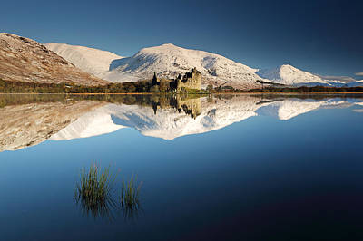 Kilchurn Castle Reflection Poster by Grant Glendinning