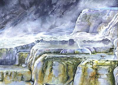 Killdeer Palisades - Mammoth Hot Springs Poster