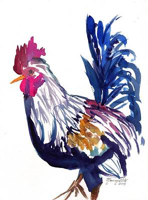 Kilohana Rooster Poster by Marionette Taboniar