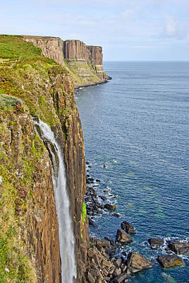 Kilt Rock Waterfall Poster by Chris Thaxter