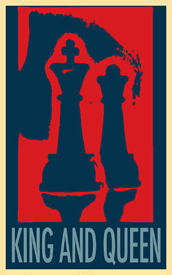 King And Queen In Hope Poster by Rob Hans