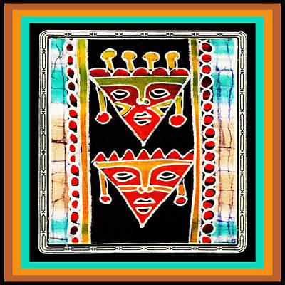 Poster featuring the digital art King And Queen by Vagabond Folk Art - Virginia Vivier