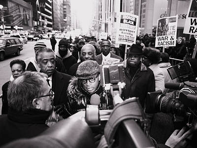 King Best One Nyc Spike Lee And Rev Al Sharpton Sean Bell March By The King Poster by King Wells