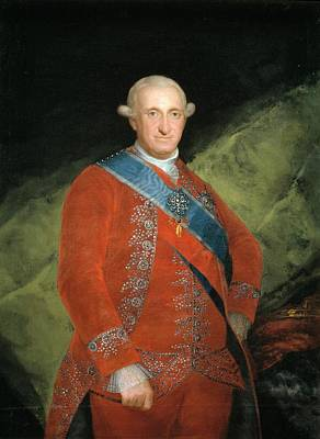 King Carlos Iv In Red Poster by Francisco Goya