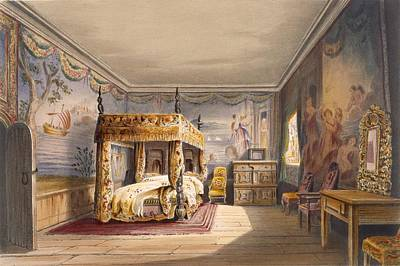 King Charles Room, Cotehele House Poster by English School