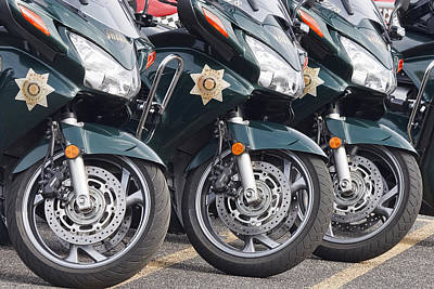 King County Police Motorcycle Poster