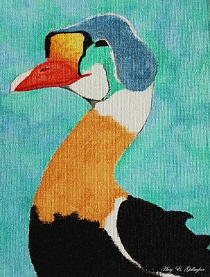 King Eider Poster by Amy Gallagher