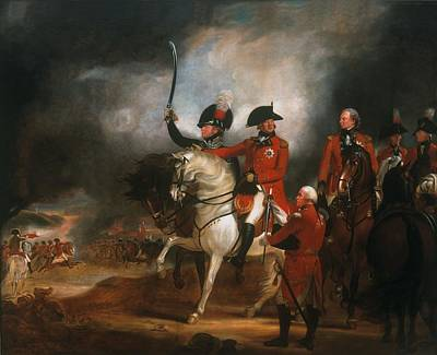 King George IIi And The Prince Of Wales Poster by Sir William Beechey