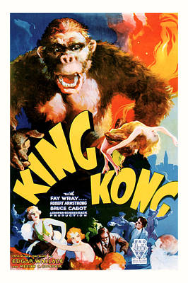 Poster featuring the mixed media King Kong 1933 Movie Art by Presented By American Classic Art