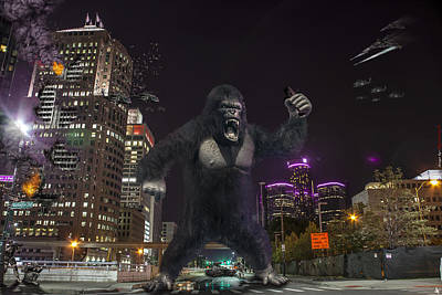 King Kong On Jefferson St In Detroit Poster by Nicholas  Grunas