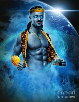 King Marid Djinn Poster by Pixl Vixl