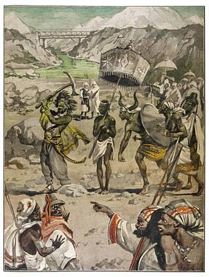 King Menelik Picks Up A  Shovel Poster