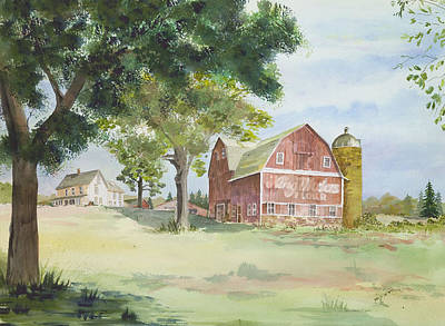 Poster featuring the painting King Midas Barn by Susan Crossman Buscho