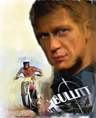 Compelling Cool V Steve Mcqueen Poster by Iconic Images Art Gallery David Pucciarelli