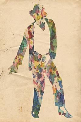 King Of Pop In Concert No 14 Poster by Florian Rodarte