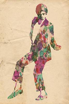 King Of Pop In Concert No 5 Poster by Florian Rodarte