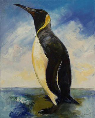 King Penguin Poster by Michael Creese