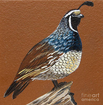 Poster featuring the painting King Quail by Jennifer Lake