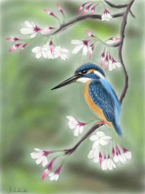 Kingfisher 19 Poster by Yoshiyuki Uchida