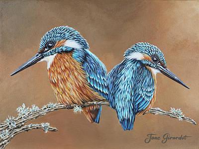 Kingfishers Poster by Jane Girardot